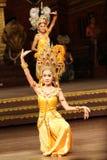 Tradycyjny Tajlandzki przedstawienie w Nongnooch ogródzie w Pattaya, Tajlandia Obraz Royalty Free