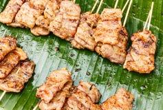 Tradycyjny Tajlandzki styl piec na grillu wieprzowina Zdjęcie Royalty Free