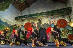 Tradycyjny taniec, Sa Pa, północno-zachodni Wietnam zdjęcia royalty free
