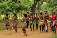 Tradycyjny taniec w Madagascar, Afryka Zdjęcia Stock