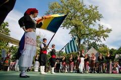 Tradycyjny taniec w Rumunia Zdjęcia Stock