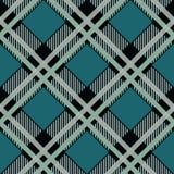 Tradycyjny tartan Bezszwowej Szkockiej szkockiej kraty wektoru w kratkę wzór Retro tekstylna kolekcja Zieleń ilustracji