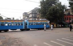 Tradycyjny tramwaj w Kolkata Zdjęcie Stock