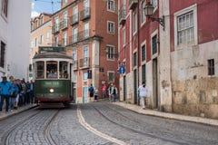 Tradycyjny tramwaj w Lisbon Zdjęcie Royalty Free