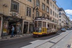 Tradycyjny tramwaj w Lisbon Zdjęcia Royalty Free