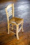 Tradycyjny trzciny siedzenia krzesło Fotografia Royalty Free