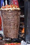 Tradycyjny turecczyzny Doner Kebab grill Obrazy Stock