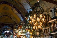 Tradycyjny turecki kolorowy lampa pokaz Fotografia Royalty Free