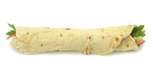 Tradycyjny Turecki opakunek rolki chleb Durum doner kebab zdjęcia stock