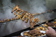 Tradycyjny turecki posiłek - shish kebab Obraz Stock