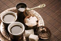Tradycyjny tureckiej kawy set obrazy stock