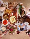 Tradycyjny Ukraiński Bożenarodzeniowy jedzenie Obraz Royalty Free
