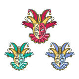 Tradycyjny venetian maska set Obrazy Stock