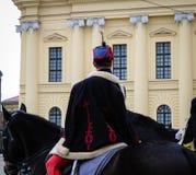 Tradycyjny Węgierski kawalerzysta - Węgierska rewolucja obrazy stock