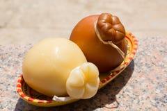 Tradycyjny Włoski ciężkiego sera Provolone Caciocavallo, biały Obrazy Royalty Free