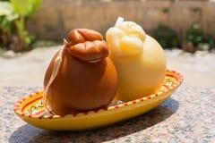 Tradycyjny Włoski ciężkiego sera Provolone Caciocavallo, biały Fotografia Stock