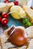 Tradycyjny Włoski ciężkiego sera Provolone Caciocavallo, dym Obrazy Stock