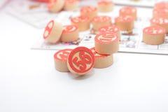 Tradycyjny włoski gemowy tombola bingo z liczbami i karty zabawy enjoi bawić się gracza zdjęcie stock