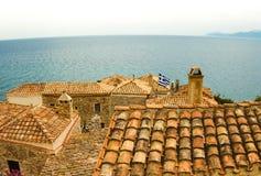Tradycyjny widok kamieni widoki i domy Zdjęcie Royalty Free