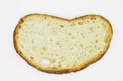 Tradycyjny ?wie?y i smakowity bia?ego chleba plasterek Skorupa, ciie zdjęcia royalty free