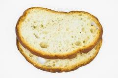 Tradycyjny ?wie?y i smakowity bia?ego chleba plasterek Skorupa, ciie zdjęcia stock
