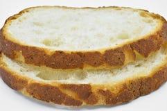 Tradycyjny ?wie?y i smakowity bia?ego chleba plasterek Skorupa, ciie obraz royalty free