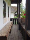 Tradycyjny wiejski romanian domu ganeczek Zdjęcia Royalty Free