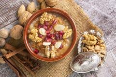 Tradycyjny wy?mienicie Turecki deser; Ashura Asure zdjęcie stock
