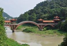 Tradycyjny wyginający się most zdjęcie stock