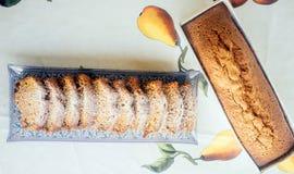Tradycyjny Żydowski miód Cake-2 Zdjęcia Royalty Free