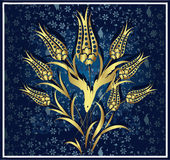 tradycyjny złocisty projekta ottoman ilustracja wektor