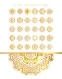 Tradycyjny złoty wystrój na białym tle royalty ilustracja