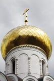 Tradycyjny złoty cupola w Rosyjskiej katedrze Obraz Royalty Free