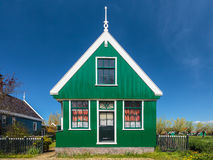 Tradycyjny zielony Holenderski historyczny dom Obrazy Stock