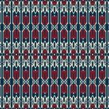 Tradycyjnych kształtów bezszwowy wzór Fotografia Stock