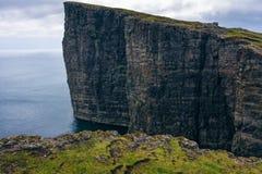 Traelanipan cliff on the island of Vagar on Faroe Islands