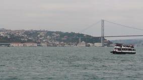 traeling的海,伊斯坦布尔城市,土耳其12月2016年, 股票录像