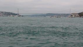 traeling的海,伊斯坦布尔城市,土耳其12月2016年, 股票视频