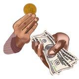 Traer prosperidad stock de ilustración