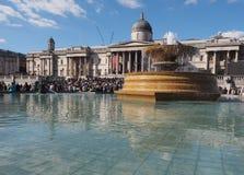 trafalgar carré de Londres Image stock
