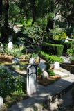 Trafalgar cemetery, Gibraltar. Royalty Free Stock Image