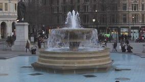 Trafalgar Fountain stock footage