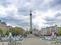 Trafalgar fyrkant, London Royaltyfri Foto