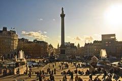 Trafalgar fyrkant stora ben, london Arkivfoton