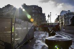 Trafalgar kwadrat w Londyn, Anglia, UK Fotografia Stock