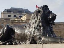 Trafalgar Lion London Fotos de archivo