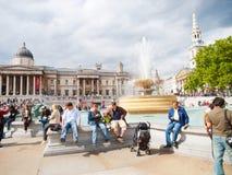 trafalgar london квадратное Стоковая Фотография RF