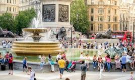 trafalgar london квадратное Стоковая Фотография
