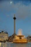 trafalgar london фонтана Англии квадратное Стоковые Изображения RF