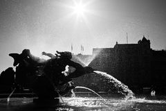 trafalgar london фонтана квадратное Стоковое фото RF
